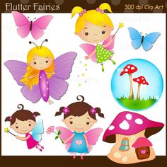 FLUTTER FAIRIES  Clip art for personal and by urbanwillow on Etsy, $5.00