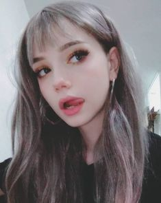 Don't bite your tongue literally 😎 Cute Makeup, Beauty Makeup, Makeup Looks, Hair Makeup, Hair Beauty, Aesthetic People, Aesthetic Girl, Japonese Girl, Aesthetic Makeup