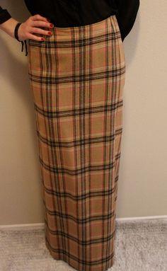 Harrods of London Vintage Wool Maxi by BarbeeVintage on Etsy, $29.00