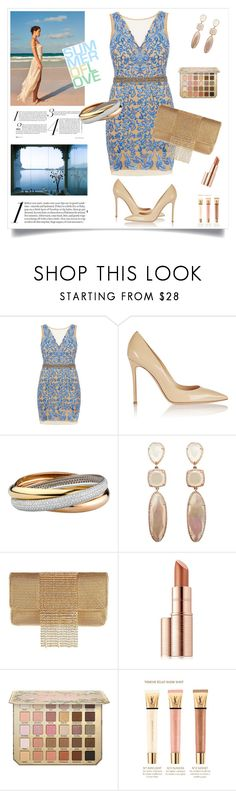 """My best friend's wedding"" by enmanes ❤ liked on Polyvore featuring By Terry, Nicole Miller, Gianvito Rossi, Whiting & Davis, Estée Lauder and Yves Saint Laurent"