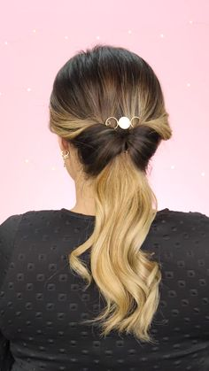 Simple and fast hairstyles Clip Hairstyles, Easy Hairstyles For Long Hair, Braided Hairstyles, Bun Hairstyle, Fast Hairstyles, Hair Color Dark, Brown Hair Colors, Cut My Hair, Hair Cuts