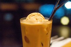 Iced latte salted caramel drink providore
