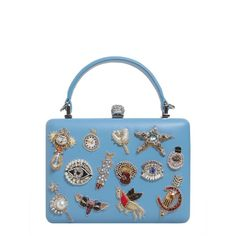 Charms Case Bag With Skull ($1,990) ❤ liked on Polyvore featuring bags, handbags, celeste, white purse, alexander mcqueen, alexander mcqueen purse, alexander mcqueen handbags and alexander mcqueen clutches