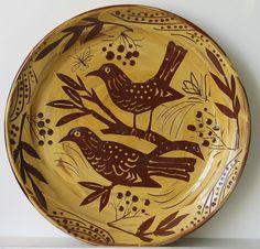 Mark Hearld, 47. Slip Trailed Songsters. Slipware ceramic 35cm diameter £375 SOLD