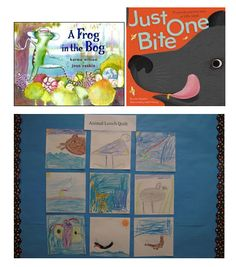 To address NGSS PE 1-LS1-1, students can use the information in these books to create an animal lunch quilt that shows how a variety of animals find and catch food.