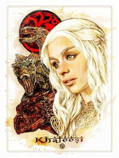 Khaleesi Daenerys Targaryen: HBO's Game of Thrones inspired fan art by AdrianaMelo Game Of Thrones Khaleesi, Game Of Throne Daenerys, Game Of Thrones Art, Cersei Lannister, Daenerys Targaryen, Game Of Trones, My Sun And Stars, Mother Of Dragons, Illustrations