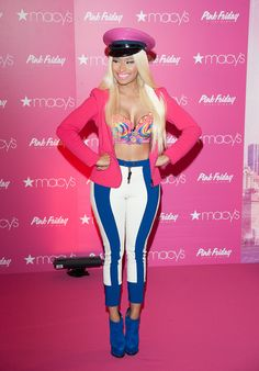 nicki minajs style | Nicki Minaj attends the Nicki Minaj Pink Friday Fragrance Launch ...