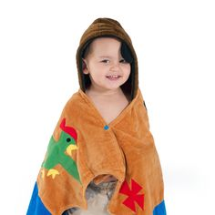 A boy with a Kidorable Pirate Towel is a swashbuckling adventurer, always on the move and living life to the fullest.