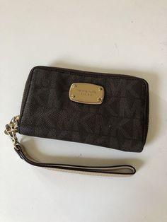 03326f09c002 Michael Kors Women s Jet Set Zip Around Continental Wallet - Brown  fashion   clothing