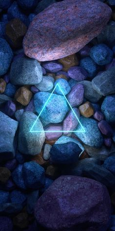 Neon Stone Triangle iPhone Wallpaper - Best of Wallpapers for Andriod and ios Neon Light Wallpaper, Iphone Wallpaper Images, Neon Wallpaper, Cool Wallpapers For Phones, Aesthetic Iphone Wallpaper, Colorful Wallpaper, Mobile Wallpaper, Aesthetic Wallpapers, Iphone Wallpapers