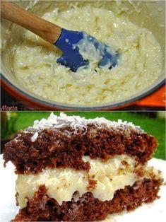 Recheio Prestígio ❤️ Ingredientes 1 lata de leite condensado 1/2 pacote de coco ralado ou coco fresco é (opcional) 1 colher de sopa de manteiga s... - Ro Oliveira - Google+