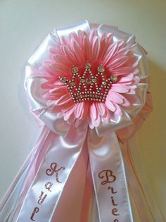 Princess Crown Baby Shower Corsage on Etsy, $30.00