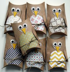 Owl candy holders for favors