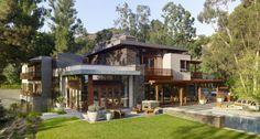 Magnifique maison bois et pierre contemporaine près de Los Angeles, Usa,  #construiretendance