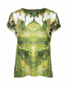 Tropical dove printed top - Olive | Tops & T-shirts | Ted Baker