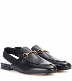Princetown leather sling-back slippers | Gucci