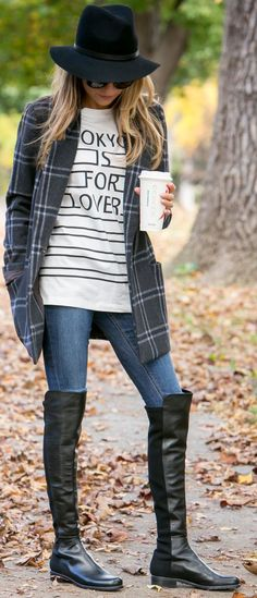 North Of Manhattan ''tokyo Is For Lovers'' Tee Fall Streetstyle Inspo