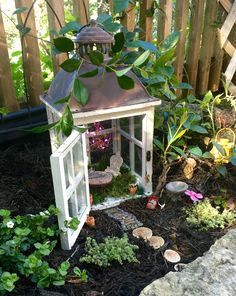 Fairy House made from a Lantern!