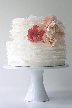 Ruffle flower cake