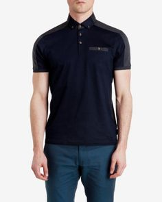 Two-tone polo shirt