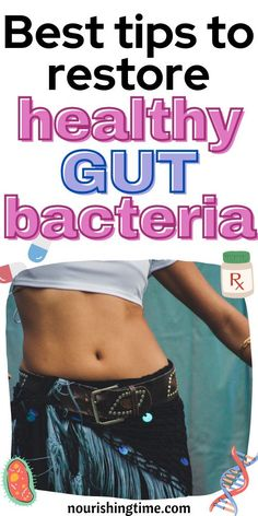 Here are my best tips to restore healthy gut bacteria. There are many causes of poor gut health, but thankfully it is something you can fix with some effort! Come learn how to heal your gut naturally with food, probiotics, fermented foods and more. This is exactly what my family does after we have to take scripts that deplete our natural bacteria. These tips can help you to fight candida naturally and stop yeast overgrowth symptoms! #guthealth #healyourgut #sibo #candida #nourishingtime