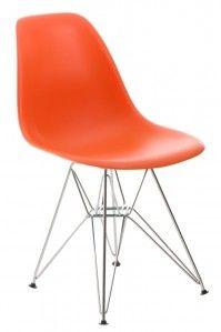Krzesło P016 PP - D2 - pomarańczowe