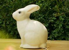 White Rabbit Lamp. DIY idea: great as a nightlight in a kids room.