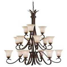 Sea Gull Lighting 31363 Russet Bronze Fifteen Light Chandelier from the Rialto