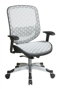 Space Seating® White DuraFlex with Flow Through Technology™  Seat and Back Chair. A new level of comfort. The 829 series chairs feature breathable mesh back with adjustable lumbar support. 2-to-1 Synchro tilt control with 3 position lock and anti-kickback. Also features heavy duty base with oversized dual wheel carpet caster and is GreenGuard Indoor Air Quality Certified. * White DuraFlex with Flow Through Technology™ Back and Seat   360 Degree Swivel   Adjustable Arms and Adjustable…