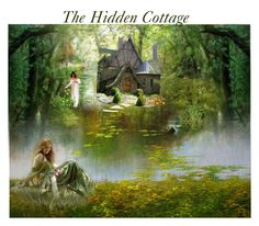 """The Hidden Cottage"" by glitterlady4 ❤ liked on Polyvore featuring art"