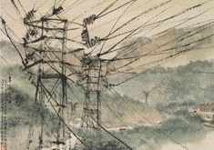Electric Power Lines - Fu Baoshi
