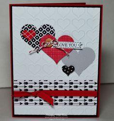 Image result for easy valentine cards, stampin up
