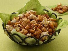 * Italian Chex® Mix (Gluten Free): GF Chex cereal, salted nuts, olive or coconut oil, balsamic vinegar, garlic powder (or fresh minced), Italian seasoning, popped popcorn, fresh Parmesan cheese