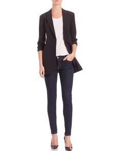 NWT Theory Dalingwood B Edition Wool Blend Blazer, Black, size 2, $455 #Theory #Blazer