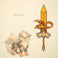 No. 059 - Arcanine. #pokemon #arcanine #broadsword #pokeapon