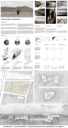 Jardín Botánico de Calama, Primer Lugar en Concurso de Arquitectura Subterránea CTES 2014 / Chile,Lámina #01. Image Cortesia de Leonardo Quinteros y Luis Pérez Huenupi