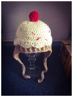 A personal favorite from my Etsy shop https://www.etsy.com/listing/263636477/crochet-cupcake-hat-baby-girl-hat