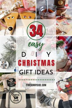 There is nothing like giving a handmade gift to your family, friends  and coworkers for Christmas. There is a part of you in every gift. Not only will you find 34 unique DIY Christmas gift ideas that are sure to please everyone on your list, but also it's a perfect way to do Christmas on a budget. So roll up your sleeves and make someone happy. #DIYChristmasGifts #HomemadeGiftIdeas #ChristmasGiftstoMake