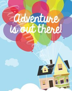 Pixar's Up Inspired Adventure is out there by ALittleMoreEvents Disney Up House, Disney Movie Up, Disney Magic, Disney Art, Disney Mural, Up Pixar, Disney Pixar Cars, Up Movie House, Up The Movie