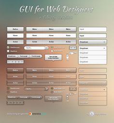 Free Glassy Web GUI Pack