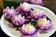 How to Make Red Onion Lotus Flower หัวหอมทอดรูปดอกไม้ Fried Onion Ring F...