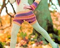 Crochet Pattern ----------BOHO Thigh High Leggings with Matching Dress and Hat