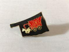 OKLAHOMA SOONER PIN, Covered Wagon pin, souvenir pin, keepsake pin, gift for dad