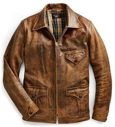 Ralph Lauren Leather Newsboy Jacket Brown L Leather Fashion, Leather Men, Leather Jackets, Cowhide Leather, Brown Leather, Jacket Style, Vest Jacket, Riders Jacket, Biker Style