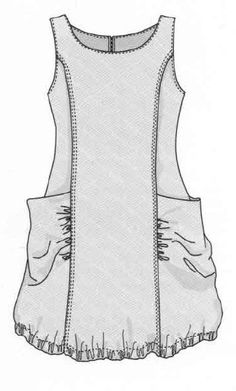 Sewing women tunic Ideas - Sewing - dresses for work Sewing Patterns Free, Free Sewing, Clothing Patterns, Dress Patterns, Free Pattern, Linen Dress Pattern, Tunic Pattern, Sewing Diy, Sewing Tutorials