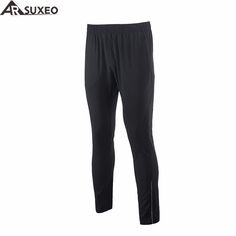 ARSUXEO 2017 Mens Sports Running Pants Training Soccer Exercise Workout GYM Pants Quick Dry Pockets P998