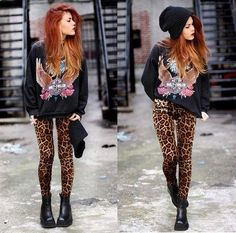 alternative fashion  grunge - kind of old school rock and roll.