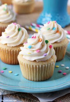 The Perfect Moist Fluffy Vanilla Cupcakes! So good!