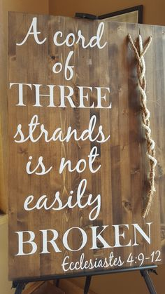 A cord of three strands is not easily broken Ecclesiastes braided by the bride and groom during their wedding ceremony at Arapahoe Basin Ski Area's wedding venue, Black Mountain Lodge Wedding Verses, Wedding Quotes, Wedding Signs, Wedding Anniversary, Wedding Ceremony, Anniversary Ideas, Reception, Wedding 2017, Fall Wedding