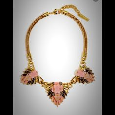 """Coming soon Vince Camuto Statement Necklace Beautiful Gold necklace with Pink detail.  Lobster clasp closure.  16"""" long.  Gold plated based metal. Vince Camuto Jewelry Necklaces"""